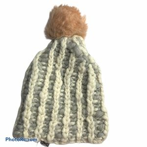 Anthropologie Pom Pom Knit Collage Winter Hat